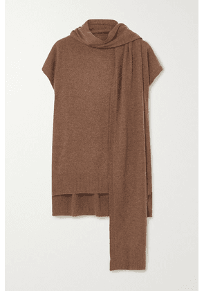 LOULOU STUDIO - Monbasa Draped Mélange Cashmere Sweater - Brown
