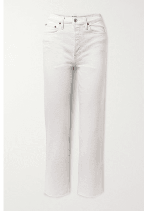 RE/DONE - + Net Sustain Originals Stove Pipe Comfort Stretch High-rise Straight-leg Jeans - Off-white