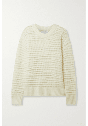 La Ligne - Nuage Open-knit Wool And Cashmere-blend Sweater - Cream