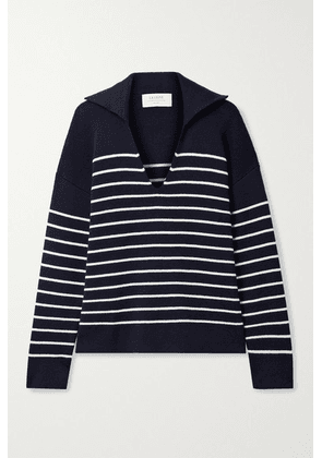 La Ligne - Striped Cotton And Cashmere-blend Sweater - Midnight blue