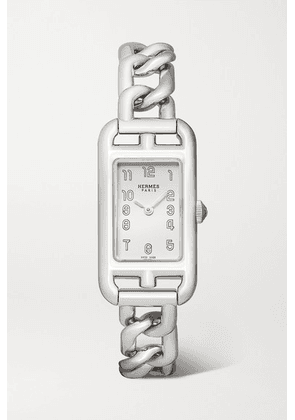 Hermès Timepieces - Nantucket 17mm Very Small Stainless Steel Watch - Silver
