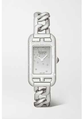 Hermès Timepieces - Nantucket 17mm Very Small Stainless Steel And Diamond Watch - Silver