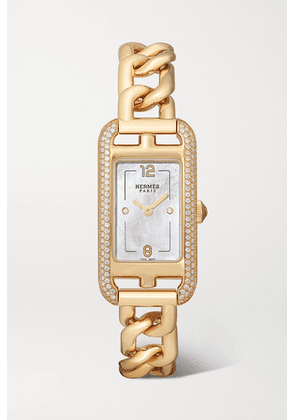 Hermès Timepieces - Nantucket 17mm Very Small 18-karat Rose Gold, Diamond And Mother-of-pearl Watch