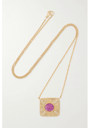 Brooke Gregson - 18-karat Gold, Sapphire And Diamond Necklace