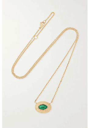 Brooke Gregson - Ellipse 18-karat Gold Emerald Necklace