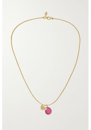 Pippa Small - 18-karat Gold Tourmaline Necklace