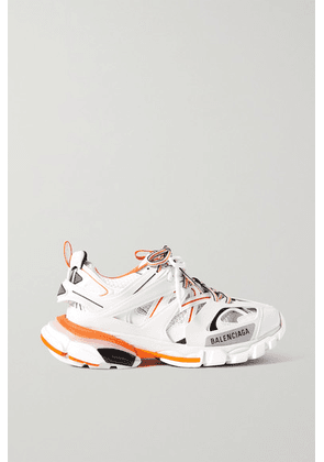 Balenciaga - Track Logo-detailed Mesh And Rubber Sneakers - White
