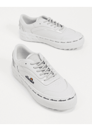 Ellesse alzina flatform chunky trainers in white-Grey