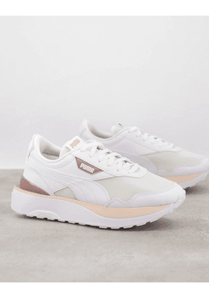 Puma Cruise Rider trainers in white and pink