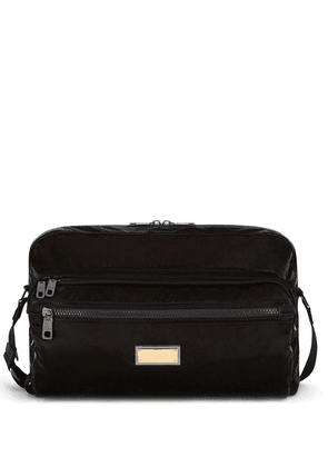 Dolce & Gabbana logo-plaque messenger bag - Black