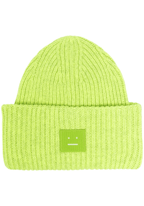 Acne Studios ribbed-knit beanie - Green