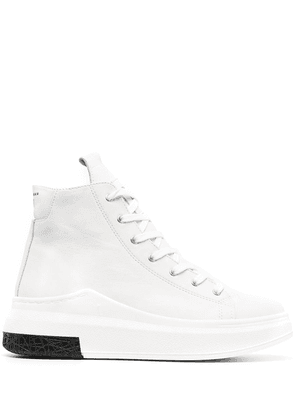 Cinzia Araia high-top lace-front sneakers - White