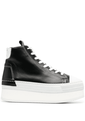 Cinzia Araia high-top lace-front platform sneakers - Black