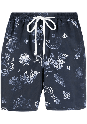 A Kind of Guise paisley-print swim shorts - Blue