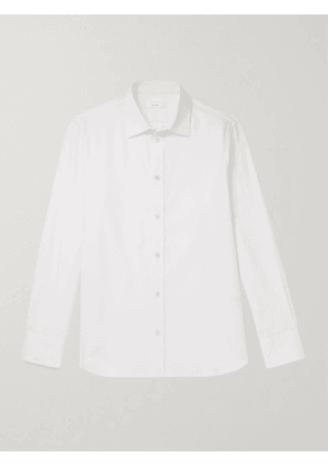 THE ROW - Robin Cotton and Cashmere-Blend Shirt - Men - White