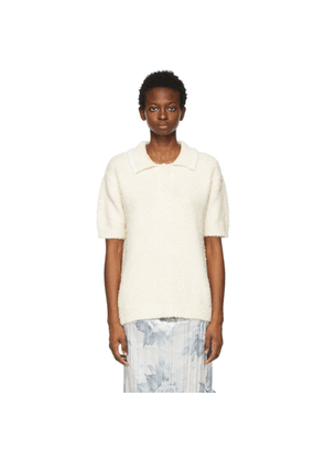 Acne Studios Beige Brushed Cotton Polo