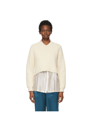 Acne Studios Off-White Cropped Sweater