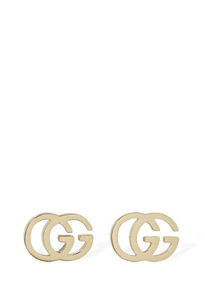 18kt Gold Gg Tissue Stud Earrings