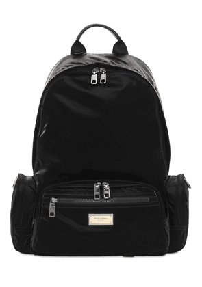Logo Plaque Nylon Backpack