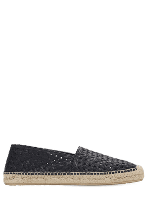 Braided Leather Espadrilles