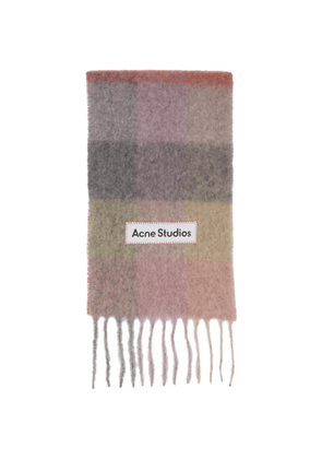 Acne Studios Pink and Purple Large Check Scarf
