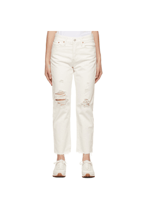 Levis White Wedgie Straight Jeans