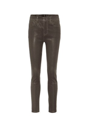 Harlow high-rise leather pants