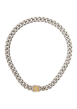 Fendi Silver and Gold FF Necklace
