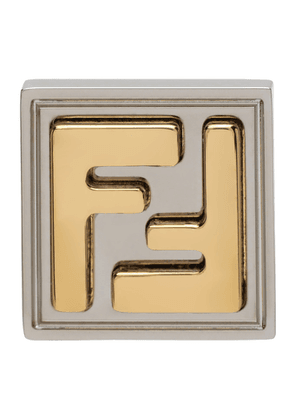 Fendi Silver and Gold FF Earring
