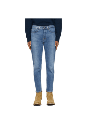 Acne Studios Blue Faded Slim Tapered Jeans
