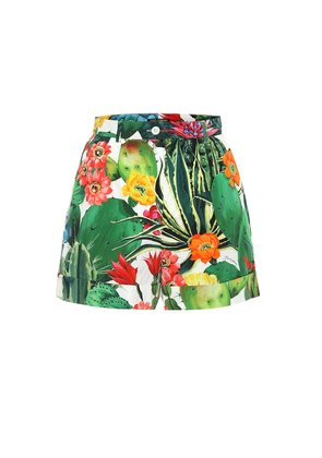 Exclusive to Mytheresa – Printed cotton-poplin shorts