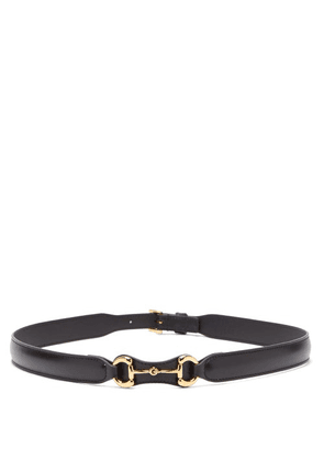 Gucci - Horsebit Leather Belt - Womens - Black