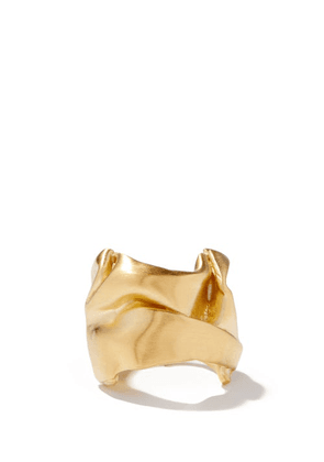 Completedworks - Crushed 14kt Gold-vermeil Ring - Womens - Yellow Gold