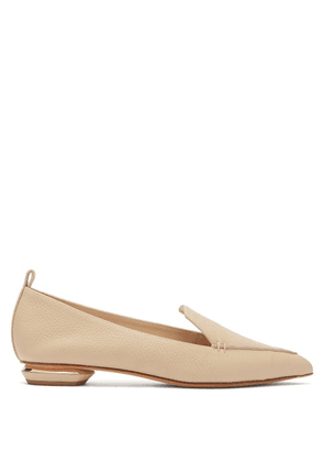 Nicholas Kirkwood - Beya Grained-leather Loafers - Womens - Light Beige