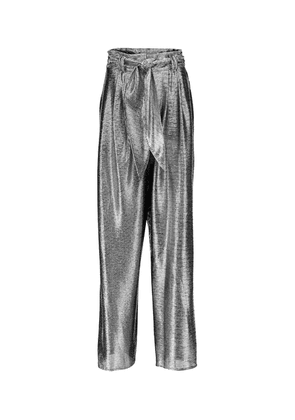 Metallic wide-leg pants