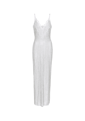 Exclusive to Mytheresa – Lace-trimmed crystal mesh bridal gown