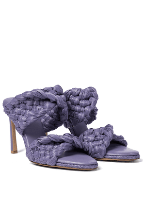 The Curve raffia sandals