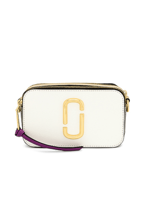 Marc Jacobs Snapshot Bag in White.