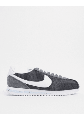 Nike Cortez recycled canvas trainers in grey