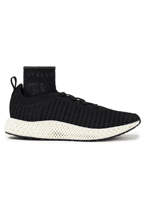Adidas By Stella Mccartney Textured Stretch-knit Sneakers Woman Black Size 6.5