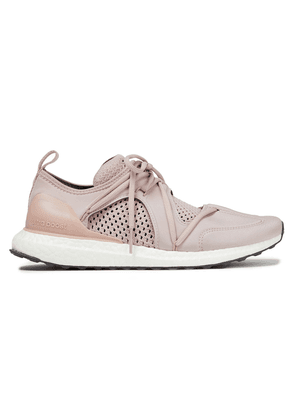 Adidas By Stella Mccartney Paneled Neoprene And Mesh Sneakers Woman Antique rose Size 7