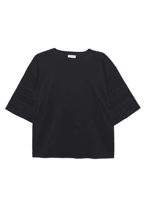 Brunello Cucinelli Bead-embellished Cotton-jersey T-shirt Woman Black Size L