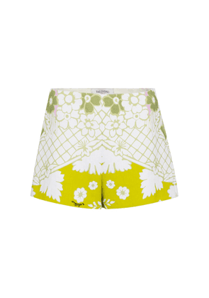 Valentino high-rise floral shorts