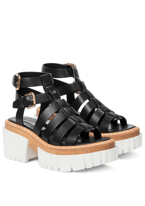 Emilie faux leather platform sandals