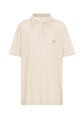 Anagram cashmere polo shirt