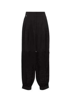 High-rise wide pants