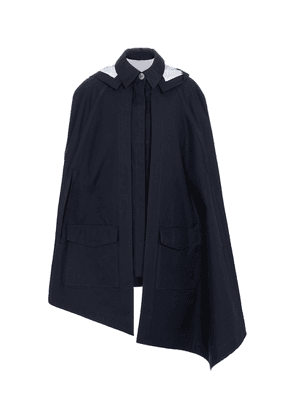 Hooded cotton cape