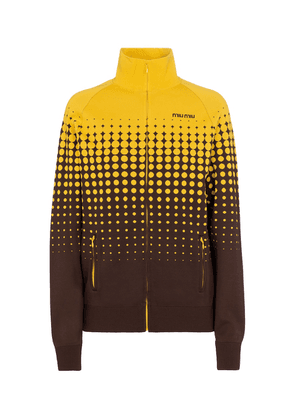 Technical jersey track jacket