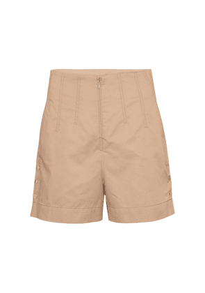 Sporty Power high-rise cotton shorts