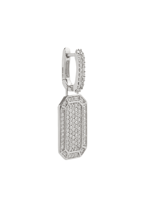 Tokyo 18kt white gold single earring with diamonds